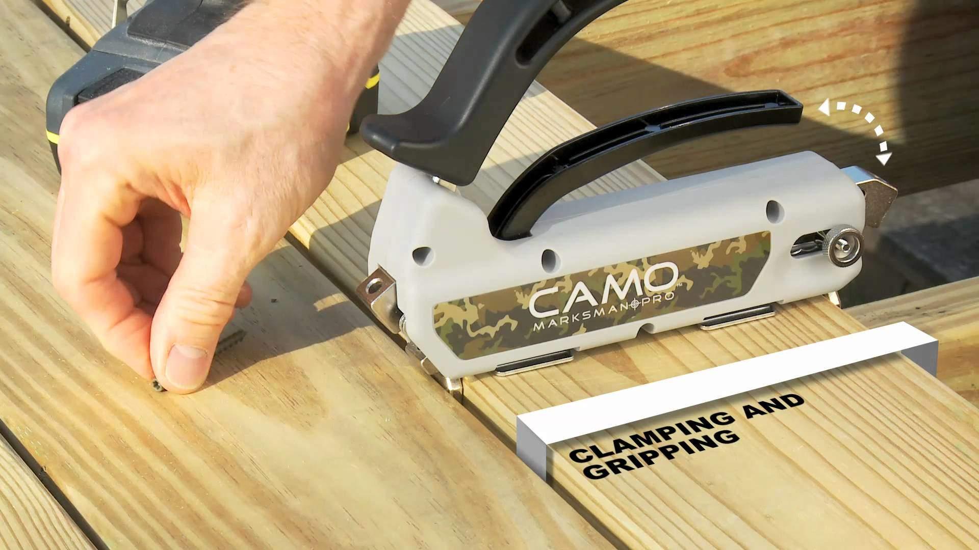 Camo® hidden deck fastening system
