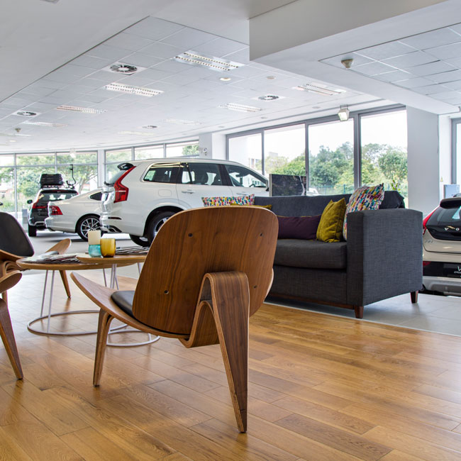 Exotic Wood Euro Oak, Volvo Umhlanga installation